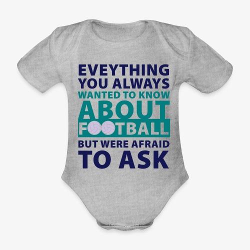 Todo sobre el fútbol - Body orgánico de maga corta para bebé