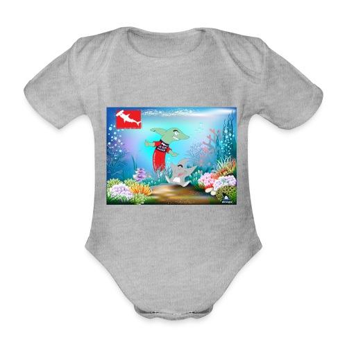 jesuis sharkie jpg - Body orgánico de maga corta para bebé