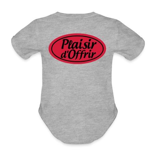 plaisirdoffrir logo tshirt PDO3 - Body Bébé bio manches courtes