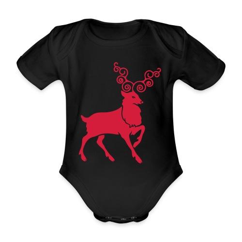 Renne de Noël - Body Bébé bio manches courtes