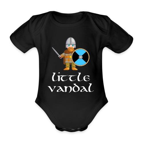 Little Vandal Hoodie (light text) - Organic Short-sleeved Baby Bodysuit