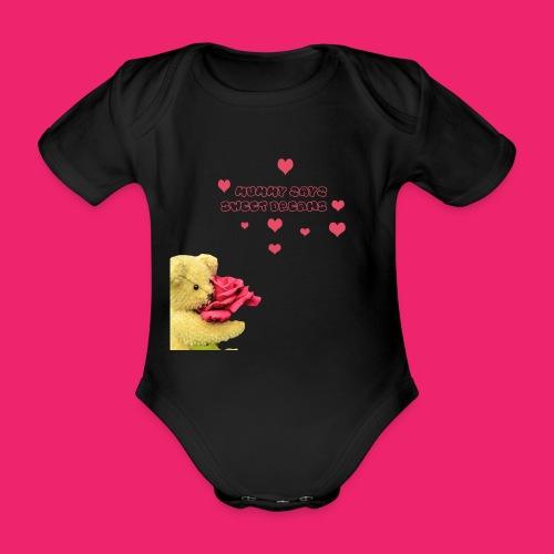 Sweet Dreams - Organic Short-sleeved Baby Bodysuit