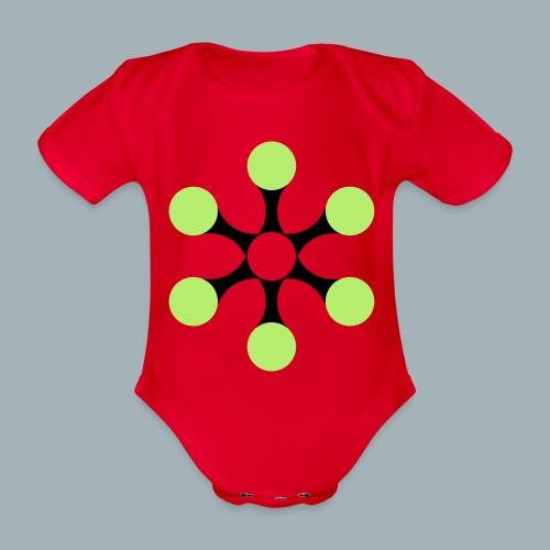 Star Bio T-shirt - Baby bio-rompertje met korte mouwen