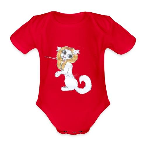 Comic Katze - Baby Bio-Kurzarm-Body