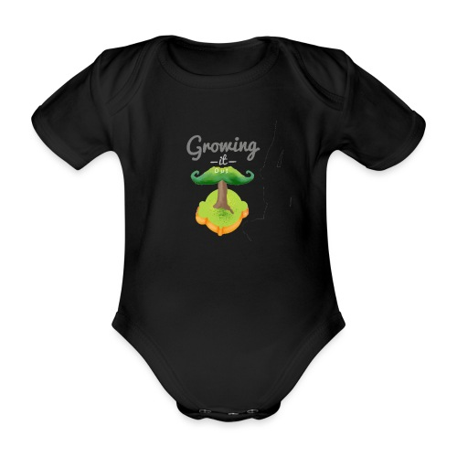 Moustache tree - Organic Short-sleeved Baby Bodysuit