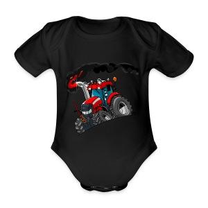 RED TRACTOR - Baby bio-rompertje met korte mouwen