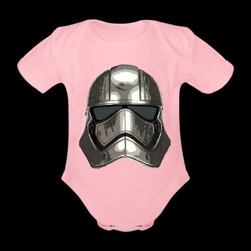 Phasma's Helmet - Organic Short-sleeved Baby Bodysuit