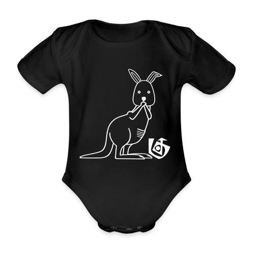Paar-Kotzendes Känguru links - Baby Bio-Kurzarm-Body