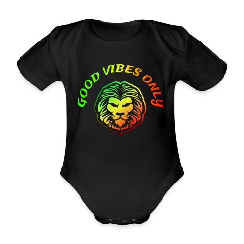 Roots Reggae Rasta Lion Good Vibes Only - Baby Bio-Kurzarm-Body