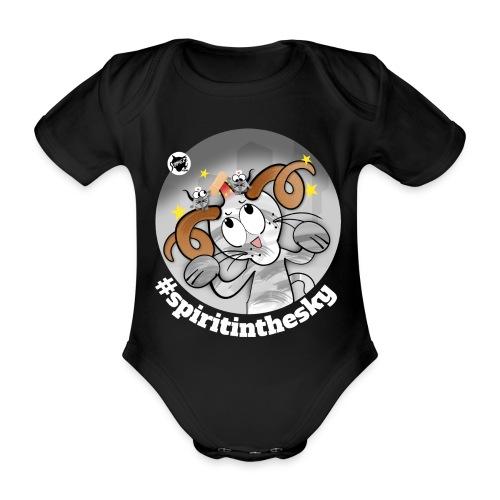 Astrokatze Widder - Baby Bio-Kurzarm-Body