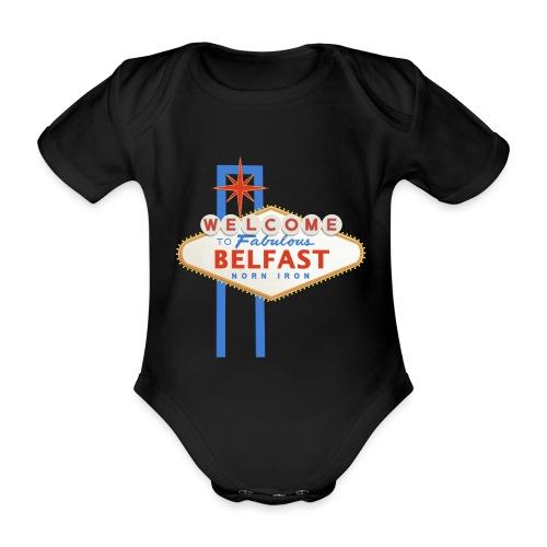 Belfast - Vegas sign - Organic Short-sleeved Baby Bodysuit