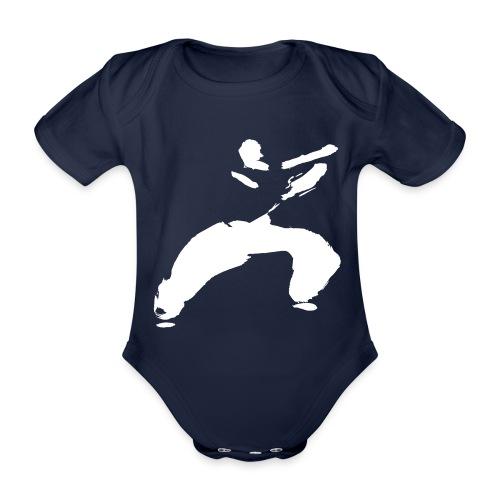 kung fu - Organic Short-sleeved Baby Bodysuit