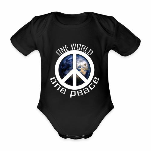 One World, One Peace - Baby Bio-Kurzarm-Body
