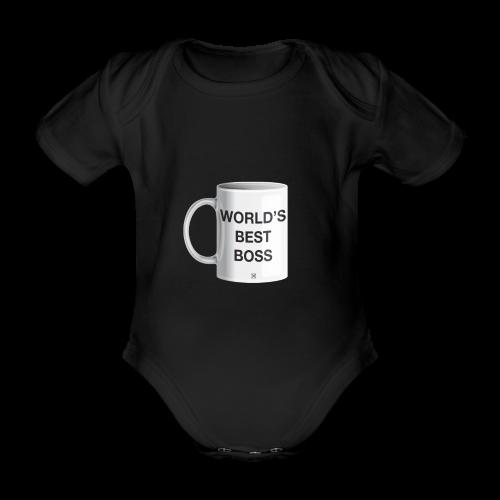 World's best boss - Body orgánico de maga corta para bebé