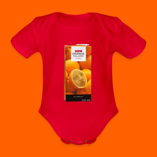 OrangeFullRoope - Vauvan lyhythihainen luomu-body