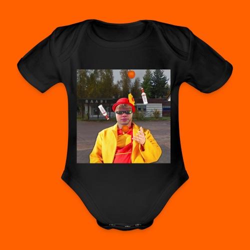OrangeFullElmeri - Vauvan lyhythihainen luomu-body