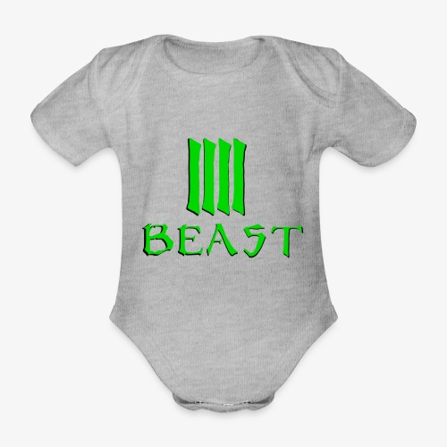 Beast Green - Organic Short-sleeved Baby Bodysuit