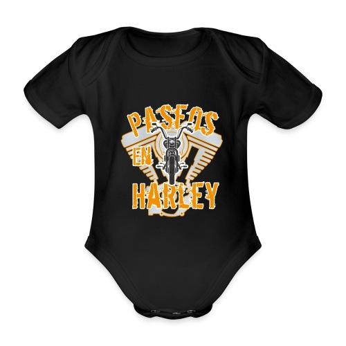 Paseos en H a r l e y - Body orgánico de maga corta para bebé