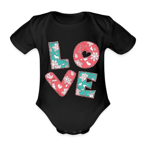 loveblume2 png - Baby Bio-Kurzarm-Body