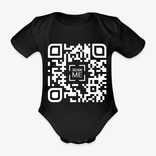 QR code (white) - Organic Short-sleeved Baby Bodysuit