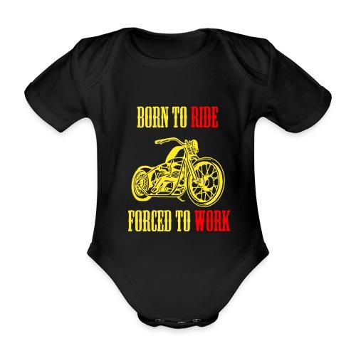 BORN TO RIDE - Body Bébé bio manches courtes