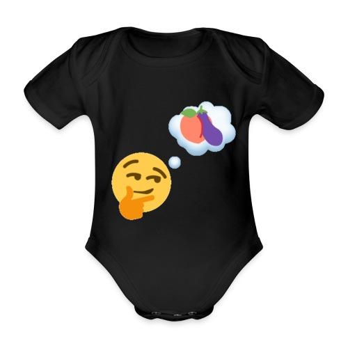 Johtaja98 Emoji - Vauvan lyhythihainen luomu-body