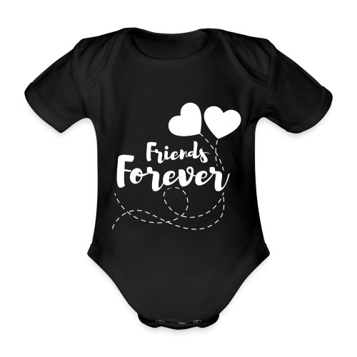 Friends forever Geschwister Zwillinge Partnerlook - Baby Bio-Kurzarm-Body