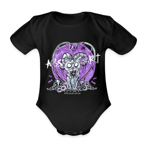 Kitty von Absurd ART - Baby Bio-Kurzarm-Body