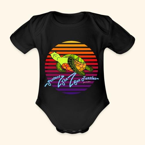 Protect The Sea Turtles - Baby Bio-Kurzarm-Body