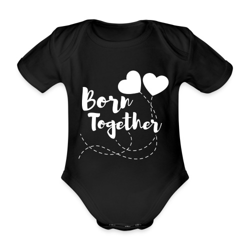 Born together Geschwister Zwillinge Partnerlook - Baby Bio-Kurzarm-Body
