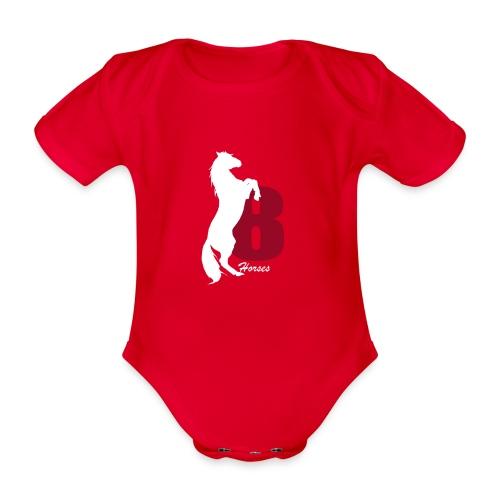 White_18Horses - Ekologisk kortärmad babybody
