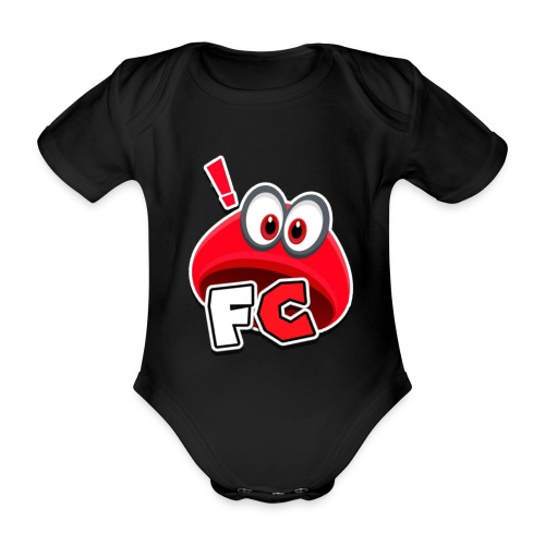 Flying Cappys Logo! - Baby Bio-Kurzarm-Body