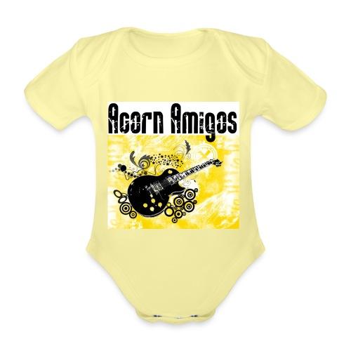 Acorn Amigos logo på jpg - Ekologisk kortärmad babybody