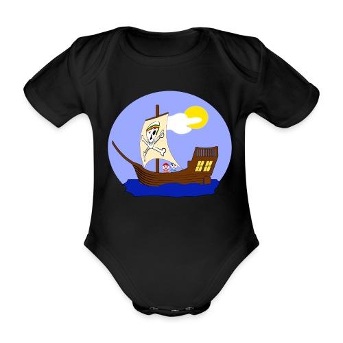 Koggen-T-Shirt für Nachwuchspiraten - Baby Bio-Kurzarm-Body