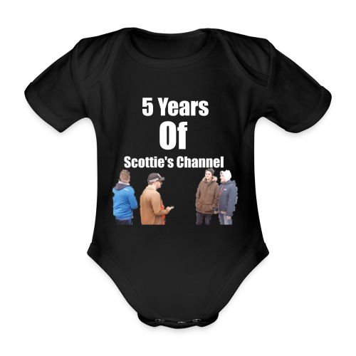 5 Years Of Scottie's Channel - Organic Short-sleeved Baby Bodysuit