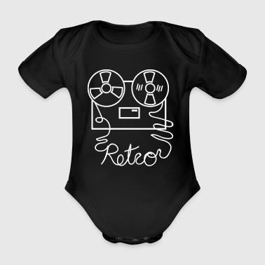 Tape Retro Musikk - Økologisk kortermet baby-body
