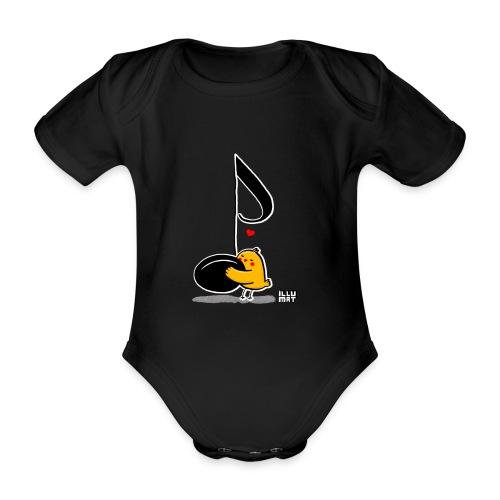 LYD 0001 02 music was my fist love - Baby Bio-Kurzarm-Body