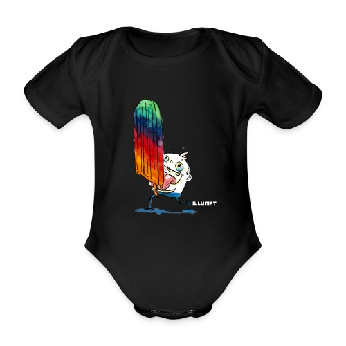 NOR 0001 00 ice ice baby - Baby Bio-Kurzarm-Body
