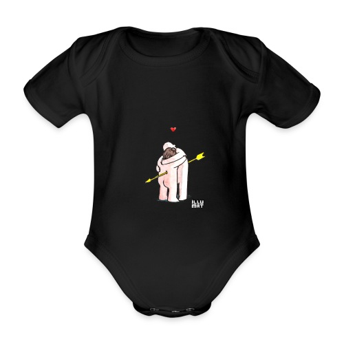 Stef 0001 00 Love - Baby Bio-Kurzarm-Body