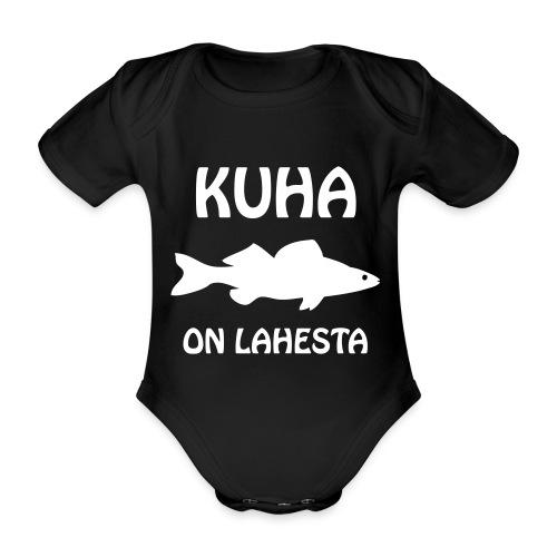 KUHA ON LAHESTA - Vauvan lyhythihainen luomu-body