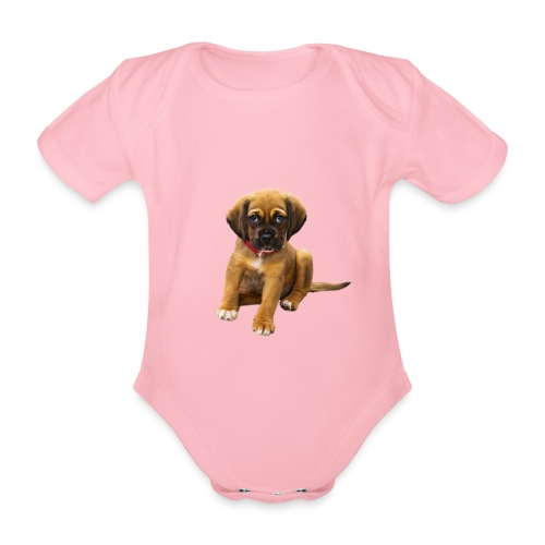 Süsses Haustier Welpe - Baby Bio-Kurzarm-Body