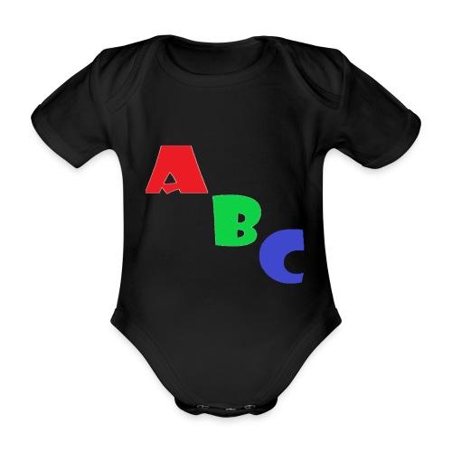 abc - Organic Short-sleeved Baby Bodysuit