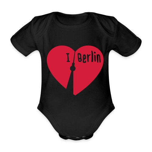 I love Berlin (1-farbig) - Baby Bio-Kurzarm-Body