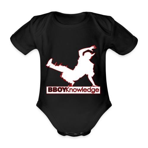 Bboy Knowledge Logo Variation Red&White - Body Bébé bio manches courtes