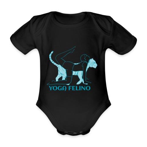 t shirt design YOGA FELINO - Body ecologico per neonato a manica corta