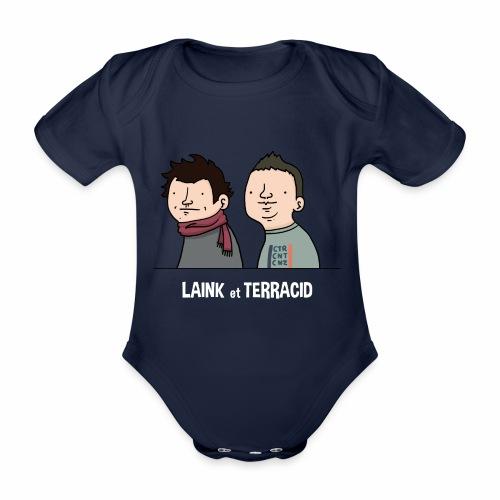 Laink et Terracid old - Body Bébé bio manches courtes