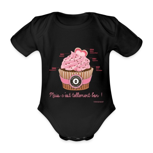 cupcake rose 2 - Body Bébé bio manches courtes