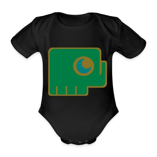 Elefant - Organic Short-sleeved Baby Bodysuit