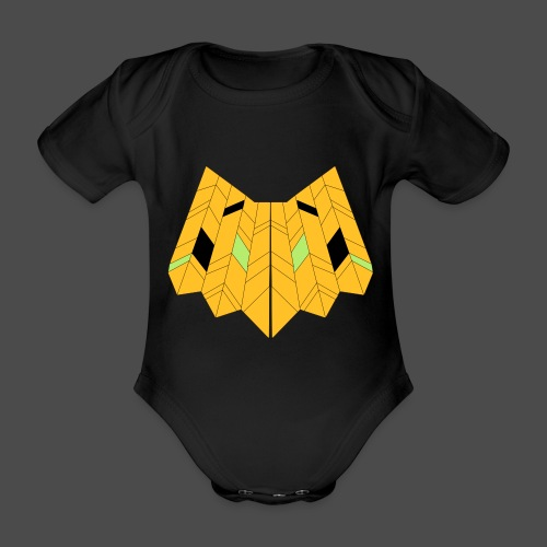 Owl Colour Redraw - Organic Short-sleeved Baby Bodysuit