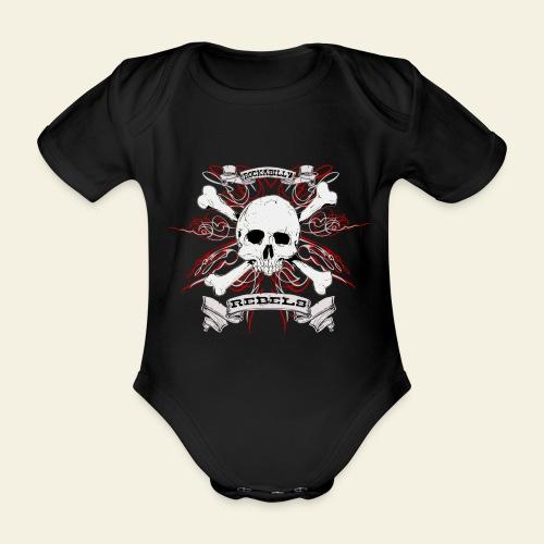 skull - Kortærmet babybody, økologisk bomuld
